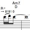 譜面解釈のポイント: チョーキング