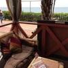 沖縄のカフェ・美浜アメリカンビレッジで海を見ながらランチタイム