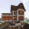 PUBGと丘の上の骨組みだった家の完成