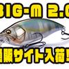 【メガバス】2mレンジを攻めるマグナムクランク「BIG-M 2.0」通販サイト入荷!