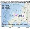 2017年08月11日 01時13分 後志地方東部でM3.6の地震
