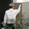 コンクリート塀の欠け補修と撥水コーティング