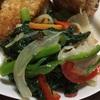 【らでぃっしゅぼーや】10分献立キットで5種緑黄野菜炒め。娘からナイスコメント頂きました♪
