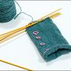 Opal毛糸のリストウォーマー
