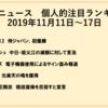 野球ニュース 個人的注目ランキング 2019年11月11日~17日