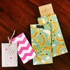封筒(ポチ袋)の作り方と展開図、綺麗な折り線の付け方~折り紙,ラッピングペーパーを使用