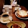 喫茶 平均律で、カラメルプリンとクロックムッシュを@学芸大学