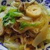 豚バラ肉と白菜の炒め物