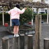 一人でも渡れるように丸太橋