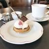 記者たちのカフェで桜のタルトを*甘酸っぱいスリジエ(CAFE de la PRESSE @日本大通り)