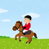 埼玉県こども動物自然公園で馬に乗った!