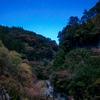 深秋の安居渓谷にて