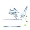 猫のトイレスタイル/ドラちゃんのことば