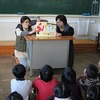 読み聞かせ 3年:筆柿の発表 6年:ヘルマンハープ体験 クラブ 福祉訪問(まどかの郷)