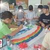 若松小学校児童会で広島への千羽鶴を折りました