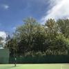 ひと月ぶりのテニスコート