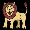 百獣の王でもかわいいライオン のイラスト