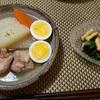 20日ぶりの晴れ!夕食は塩味の豚軟骨と大根の煮物。