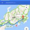 大阪東京バイク下道往復1100km4000円。