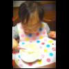 ぷに子のスプーン、フォーク練習