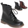 秋冬メンズライクなレディース靴。ドクターマーチン風ショートブーツ ワークブーツ