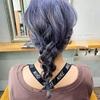 【バイオレット系カラー】人気です❤︎ブリーチで高発色カラー