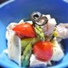 炙り鯛とアスパラ、トマトのペンネ入りサラダ