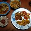 幸運な病のレシピ( 2214 )夜 :タンドリーチキン風、汁、マユのご飯