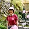 背景は横蔵寺の手水舎