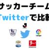 2019 サッカークラブ Twitter比較 (Jリーグ / プレミアリーグ / リーガ・エスパニョーラ / セリエA / ブンデスリーガ)