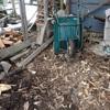 大鋸屑堆肥の作成 薪割り小屋も小綺麗に Making sawdust compost