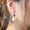 kawara pierce & earring – cotton pearl –