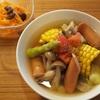 夏がいっぱいスープ野菜|塾の日ごはん