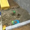 【ゆるゆるDIY】2600円でお庭に手作りの砂場を作りました!