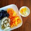 フルーツの盛り合わせ朝食