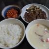 カルビのソテー 和風ソース&しめじの塩炒め&クリームスープ