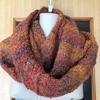 セーター編み替えて、ショールに仕上げた物です。暖かいです。