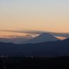 夕暮れ景色~その83『富士山と澄んだ蒼空』