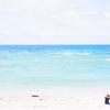 ゆとりが原付で日本縦断した55日目。青い海!白い雲!ビーチで水没×一人美ら海×民謡で踊る