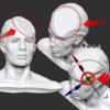 Zbrushでポリゴン面の垂直方向(法線方向)にカメラを配置する方法(ホットキー1回)