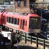 箱根湯本駅でロマンスカーから箱根登山電車に乗り換え【箱根フリーパスで日帰り旅行②】