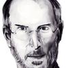 """スティーブ""""・ジョブズの手描きスケッチをPhotoshopでクォリティアップ"""