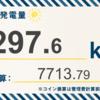 10/28〜11/3の総発電量は297.6kWh(目標比117.53%)でした!