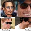 トム・クルーズ、ジョニーデップ、ライアン・ゴズリング Persolのサングラスを愛用