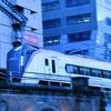 都心の夕暮れを駆けるE353系 JR中央線・神田~御茶ノ水間