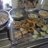 幸運な病のレシピ( 2160 )昼 :天ぷら一式(カレイ、エノキ、ナス、椎茸)、蕎麦
