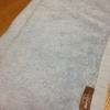 タオルを白から水色に変えました。汚れも見えすぎないほうが良い。人間関係と一緒??