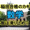 帰国生入試の早稲田合格のカギは数学【上智は滑り止め?】