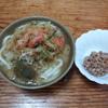 味噌汁うどんと納豆