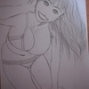9月3日にグラビアアイドルの「原幹恵さん」を描いてみた。
